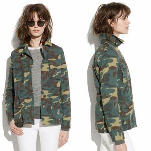 Madewell Outbound Utility Jacket Vintage Dyed Camo